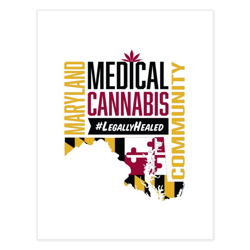 Maryland State Flag Medical Cannabis Community Home Fine Art Print by The Medical Cannabis Community
