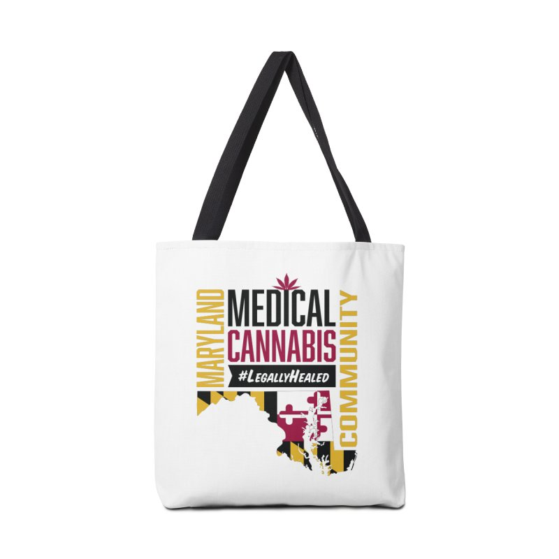 Maryland State Flag Medical Cannabis Community Accessories Tote Bag Bag by The Medical Cannabis Community