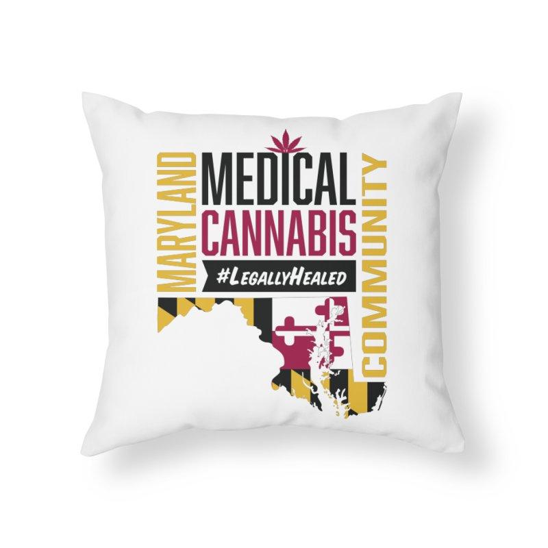 Maryland State Flag Medical Cannabis Community Home Throw Pillow by The Medical Cannabis Community