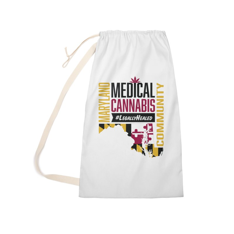Maryland State Flag Medical Cannabis Community Accessories Laundry Bag Bag by The Medical Cannabis Community