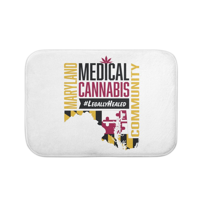 Maryland State Flag Medical Cannabis Community Home Bath Mat by The Medical Cannabis Community