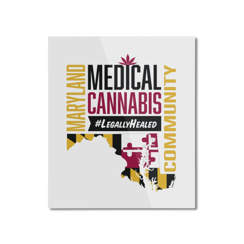 Maryland State Flag Medical Cannabis Community Home Mounted Aluminum Print by The Medical Cannabis Community