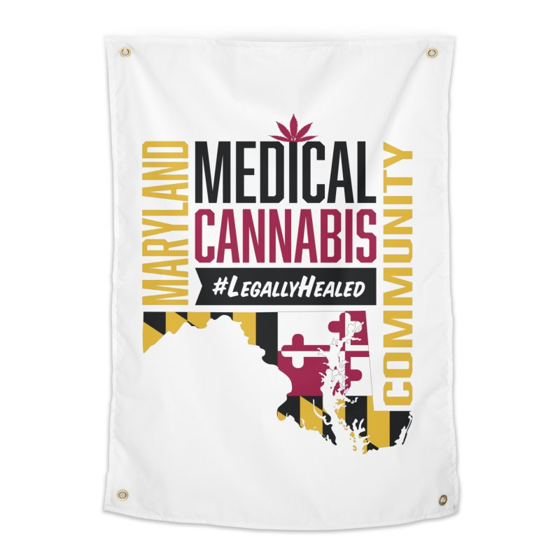 Maryland State Flag Medical Cannabis Community Home Tapestry by The Medical Cannabis Community