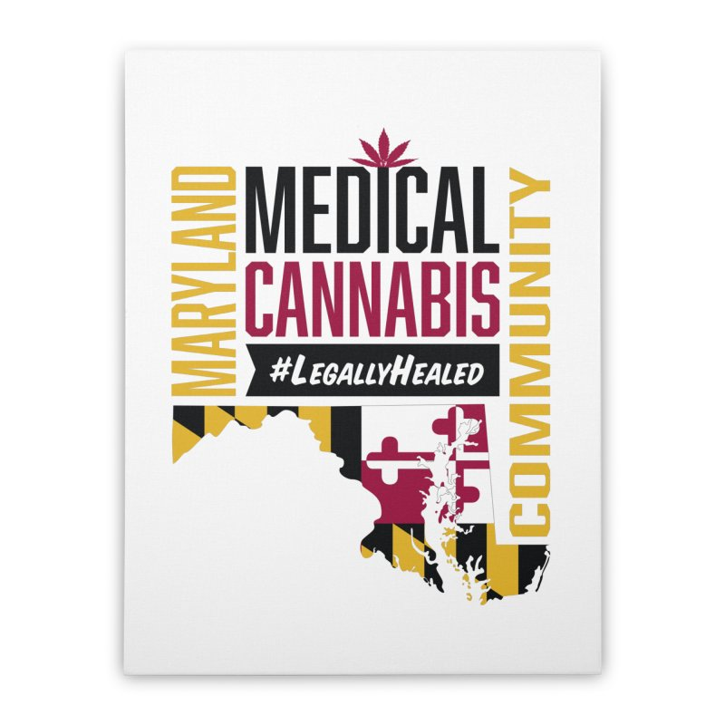 Maryland State Flag Medical Cannabis Community Home Stretched Canvas by The Medical Cannabis Community