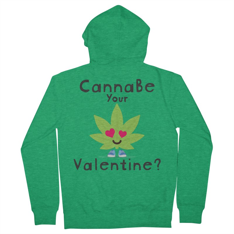 CannaBe Your Valentine? Men's Zip-Up Hoody by The Medical Cannabis Community