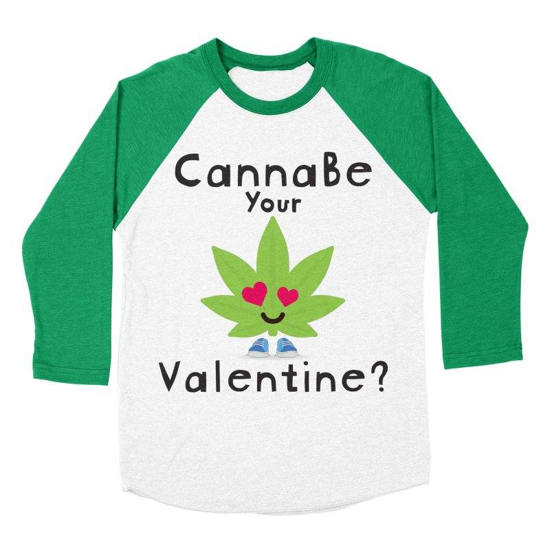 CannaBe Your Valentine? Men's Baseball Triblend Longsleeve T-Shirt by The Medical Cannabis Community