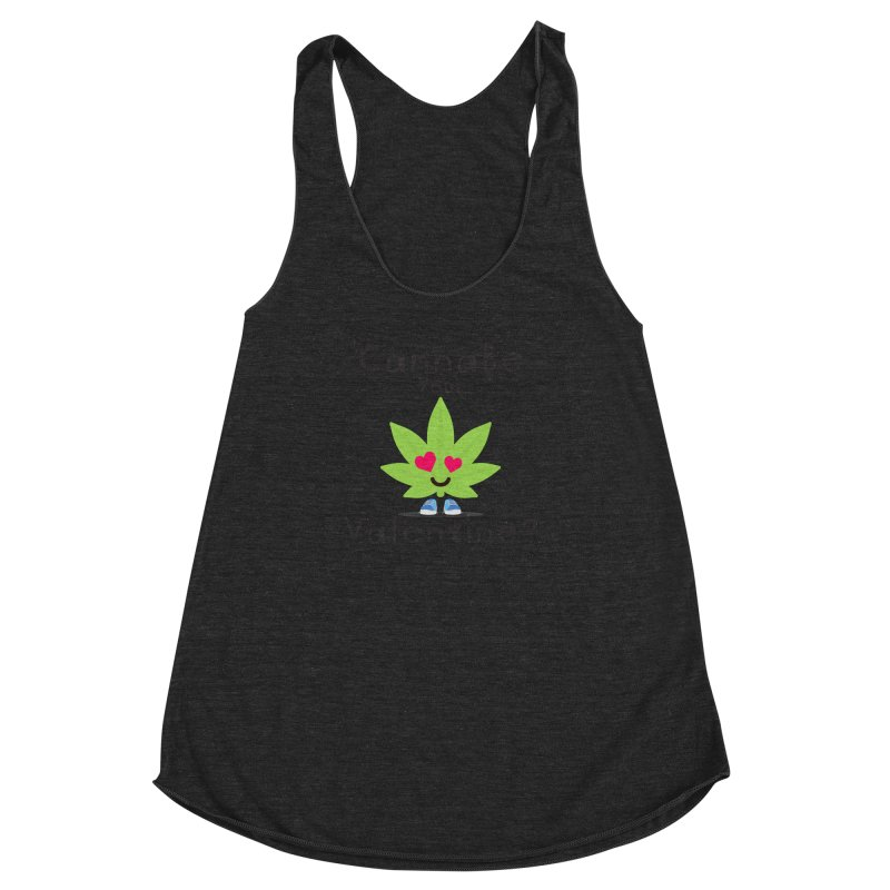CannaBe Your Valentine? Women's Racerback Triblend Tank by The Medical Cannabis Community