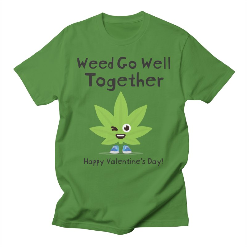 Weed Go Well Together Men's Regular T-Shirt by The Medical Cannabis Community
