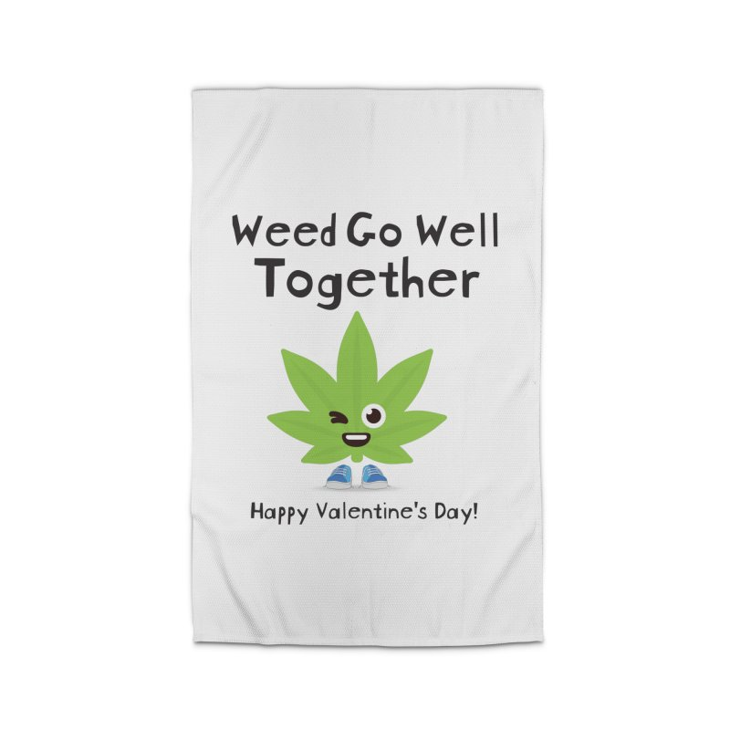 Weed Go Well Together Home Rug by The Medical Cannabis Community