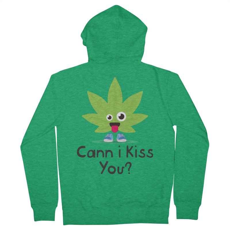 Cann i Kiss You? Men's Zip-Up Hoody by The Medical Cannabis Community