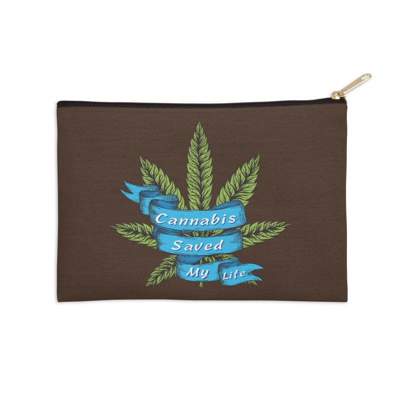 Cannabis Saved My Life Accessories Zip Pouch by The Medical Cannabis Community