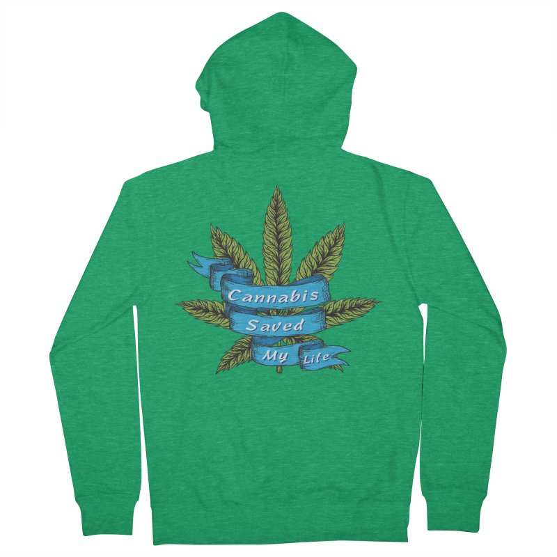 Cannabis Saved My Life Men's Zip-Up Hoody by The Medical Cannabis Community