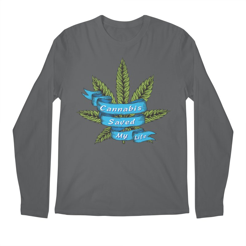Cannabis Saved My Life Men's Regular Longsleeve T-Shirt by The Medical Cannabis Community