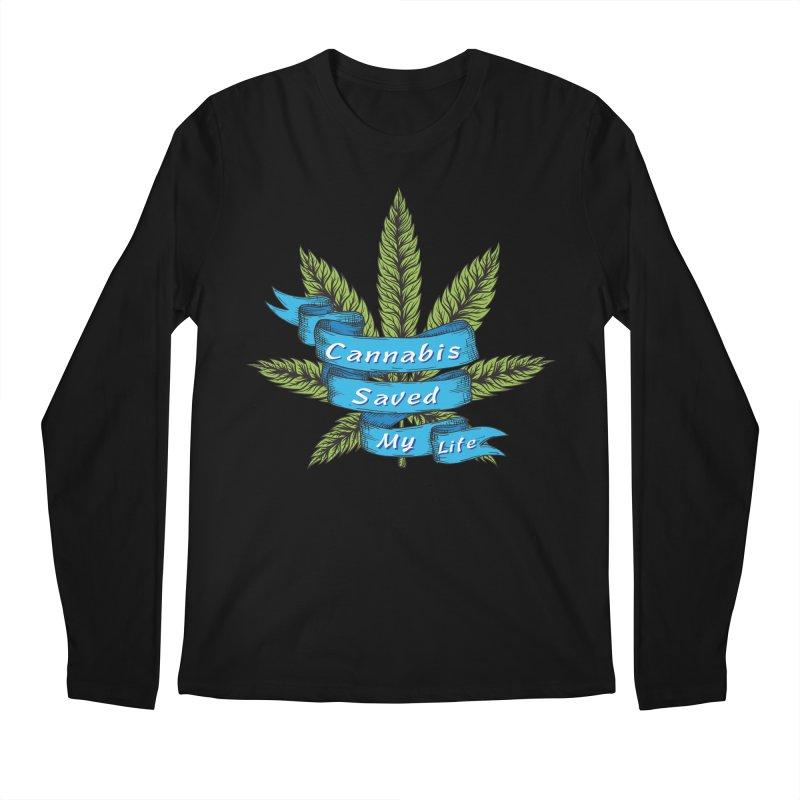 Cannabis Saved My Life Men's Regular Longsleeve T-Shirt by The Medical Cannabis Community