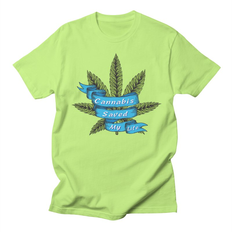 Cannabis Saved My Life Men's Regular T-Shirt by The Medical Cannabis Community