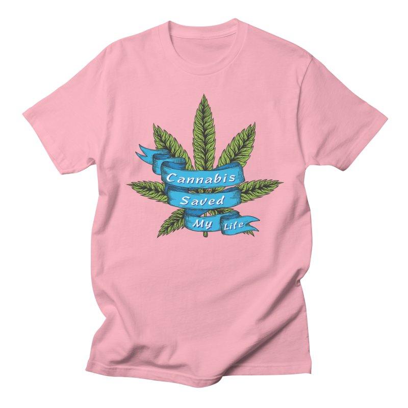 Cannabis Saved My Life Men's Regular T-Shirt by The Medical Cannabis Community