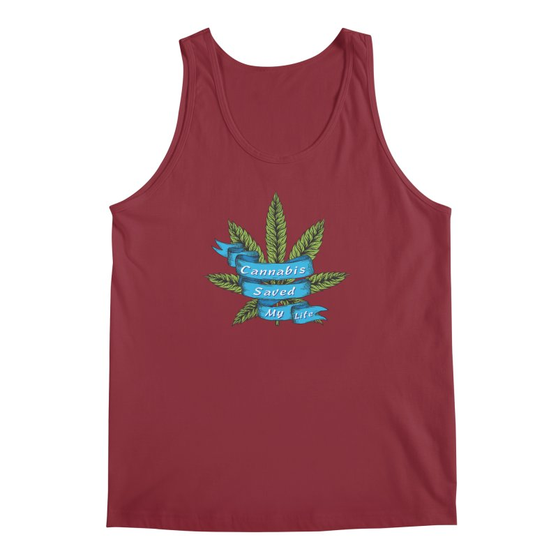 Cannabis Saved My Life Men's Regular Tank by The Medical Cannabis Community
