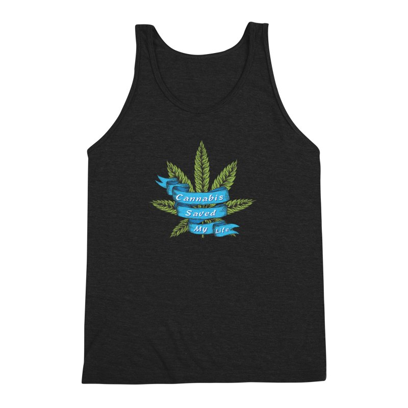 Cannabis Saved My Life Men's Triblend Tank by The Medical Cannabis Community