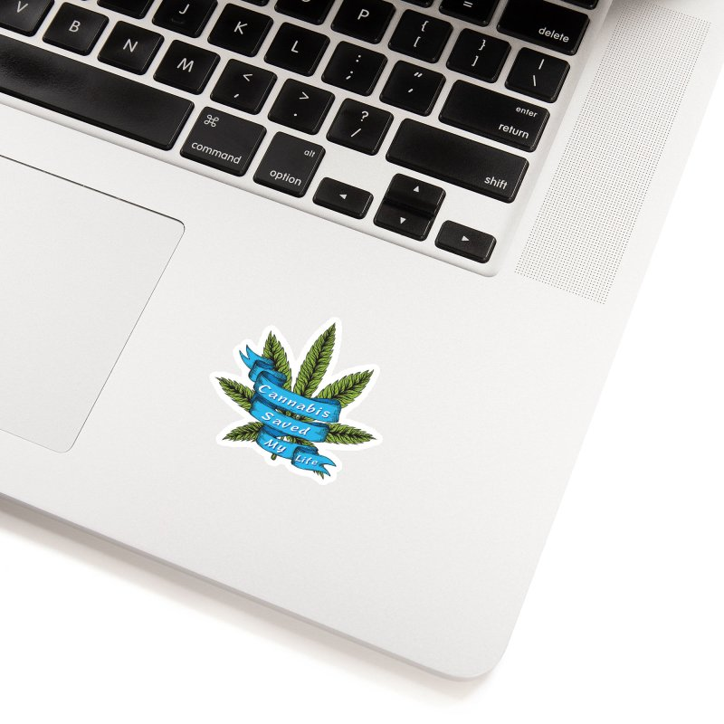 Cannabis Saved My Life Accessories Sticker by The Medical Cannabis Community