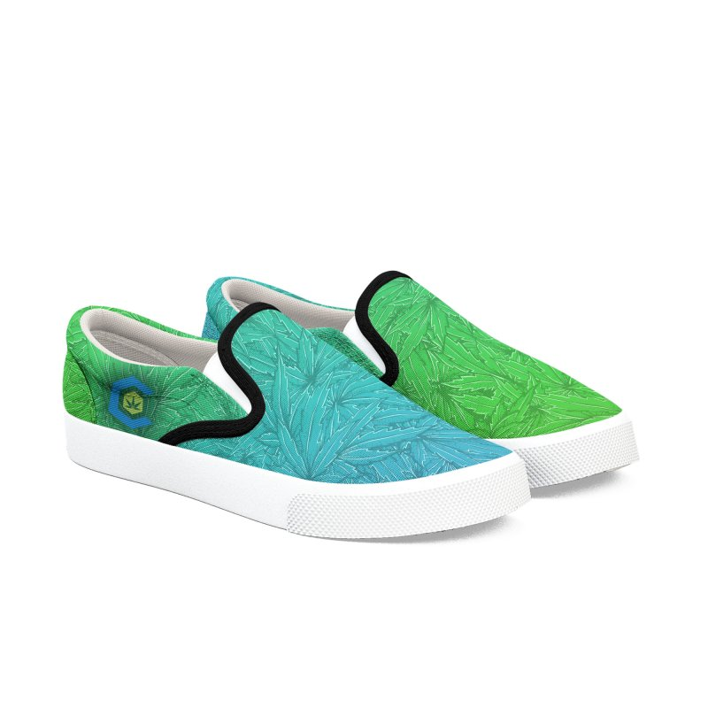 The Medical Cannabis Community Icon Women's Slip-On Shoes by The Medical Cannabis Community