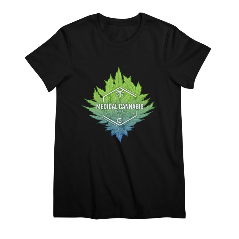 The Medical Cannabis Community Icon Women's Premium T-Shirt by The Medical Cannabis Community