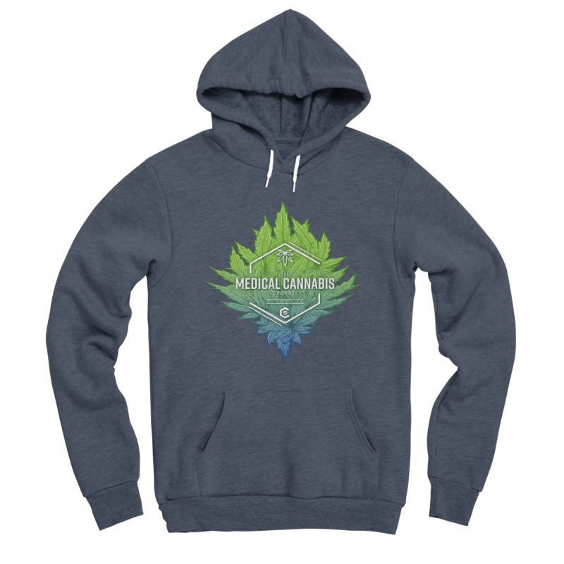 The Medical Cannabis Community Icon Men's Sponge Fleece Pullover Hoody by The Medical Cannabis Community