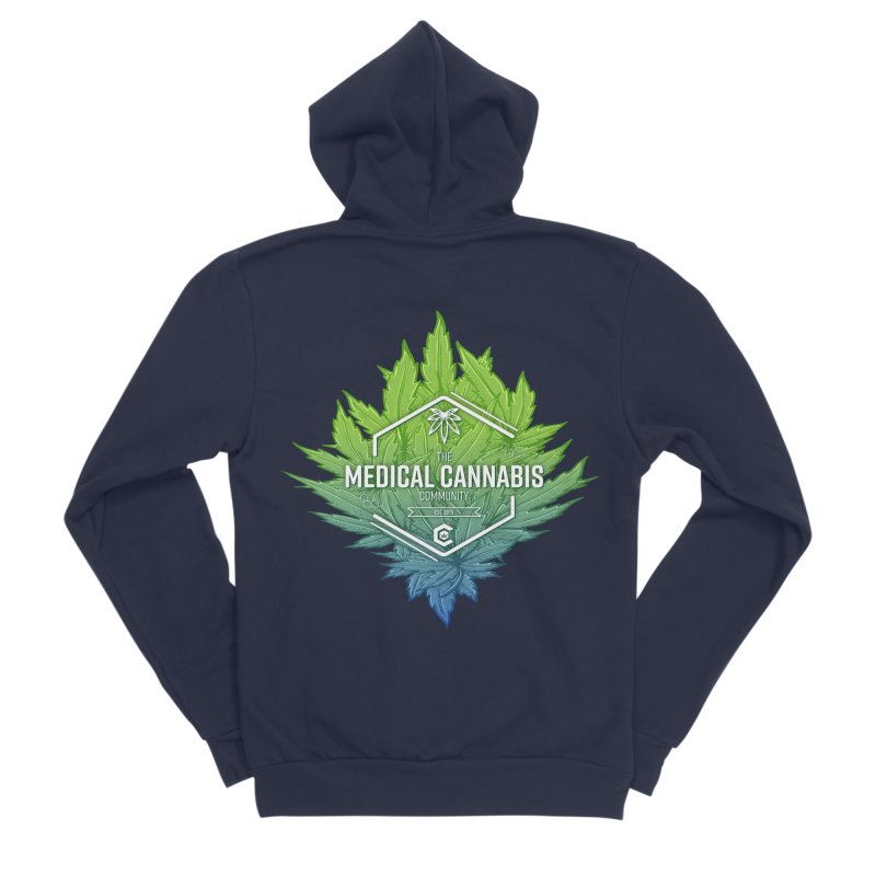 The Medical Cannabis Community Icon Women's Sponge Fleece Zip-Up Hoody by The Medical Cannabis Community
