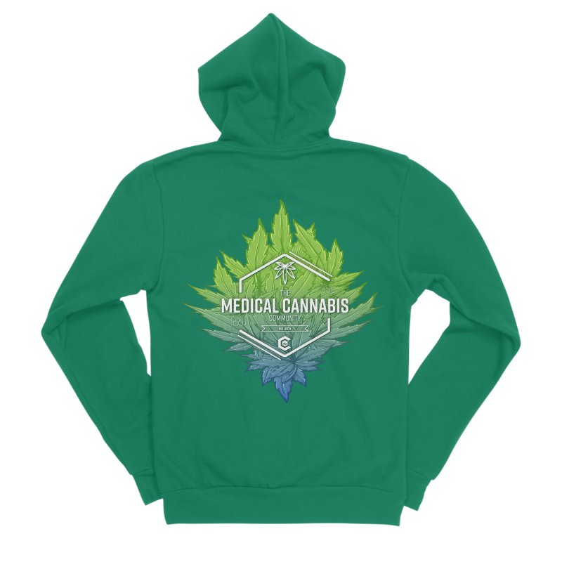 The Medical Cannabis Community Icon Men's Sponge Fleece Zip-Up Hoody by The Medical Cannabis Community