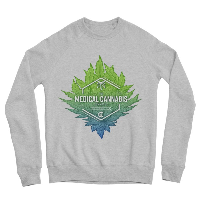 The Medical Cannabis Community Icon Men's Sponge Fleece Sweatshirt by The Medical Cannabis Community