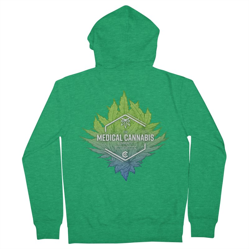 The Medical Cannabis Community Icon Men's Zip-Up Hoody by The Medical Cannabis Community
