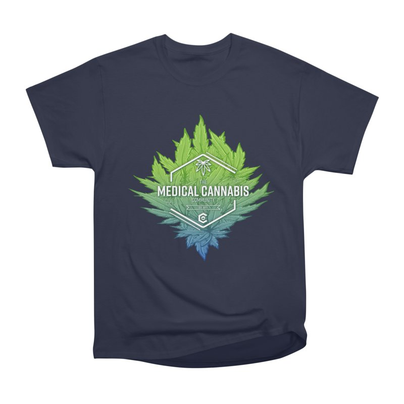 The Medical Cannabis Community Icon Women's Heavyweight Unisex T-Shirt by The Medical Cannabis Community