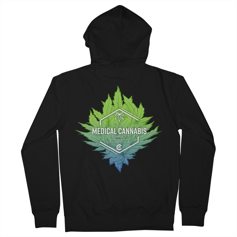 The Medical Cannabis Community Icon Women's French Terry Zip-Up Hoody by The Medical Cannabis Community