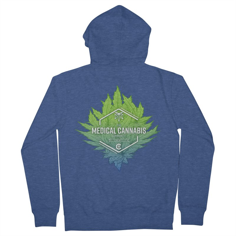The Medical Cannabis Community Icon Men's French Terry Zip-Up Hoody by The Medical Cannabis Community