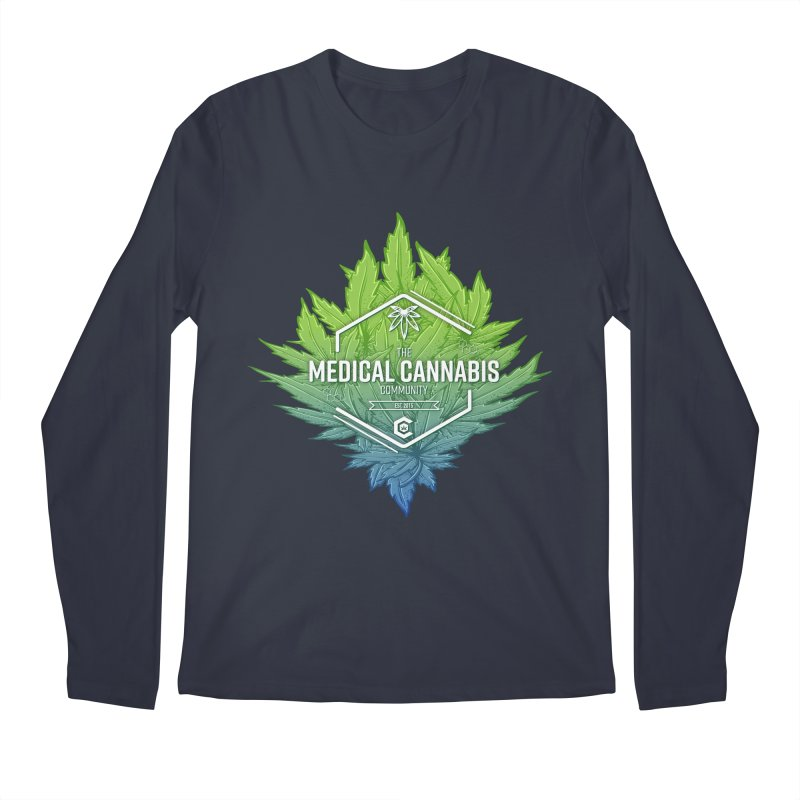 The Medical Cannabis Community Icon Men's Regular Longsleeve T-Shirt by The Medical Cannabis Community