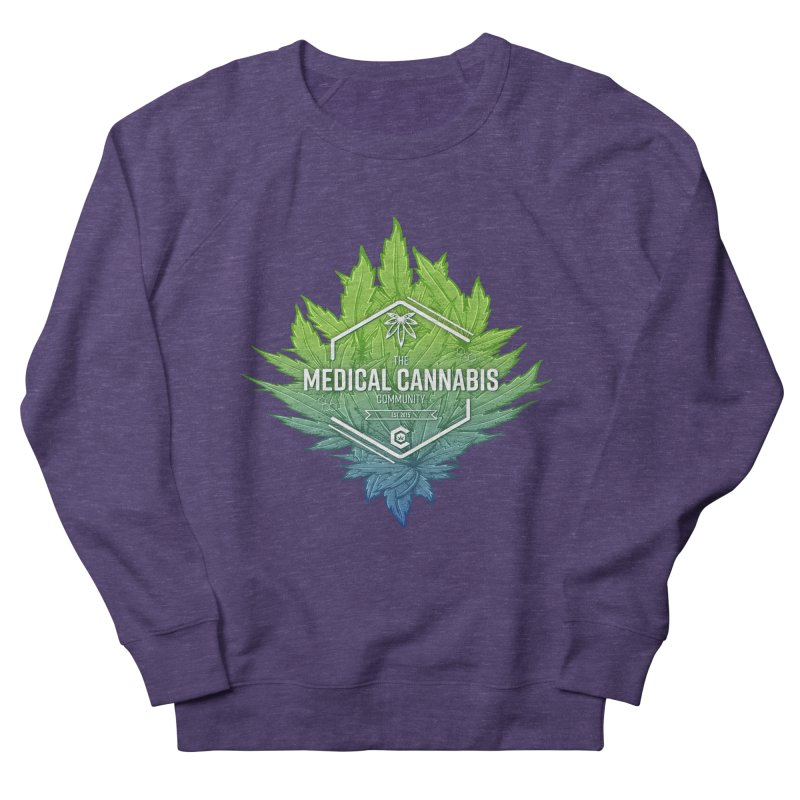 The Medical Cannabis Community Icon Men's French Terry Sweatshirt by The Medical Cannabis Community