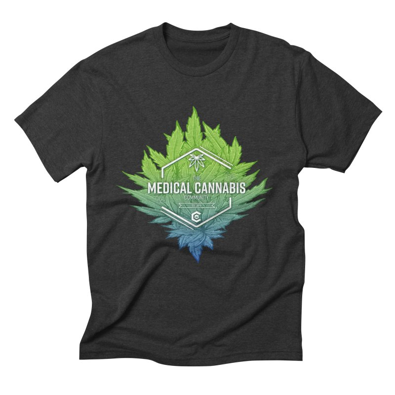 The Medical Cannabis Community Icon Men's Triblend T-Shirt by The Medical Cannabis Community