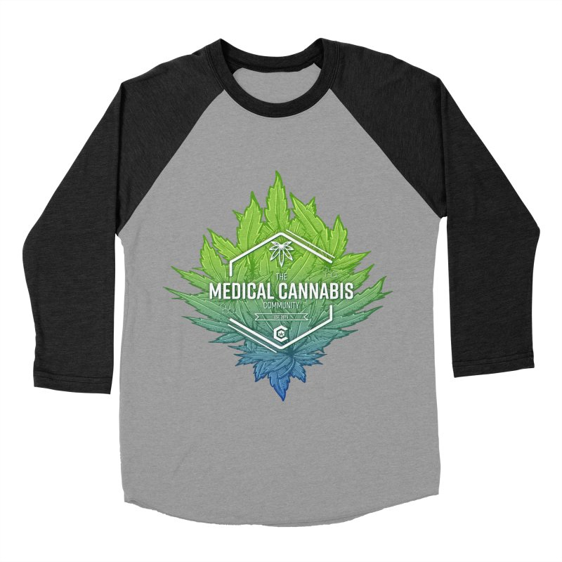 The Medical Cannabis Community Icon Women's Baseball Triblend Longsleeve T-Shirt by The Medical Cannabis Community