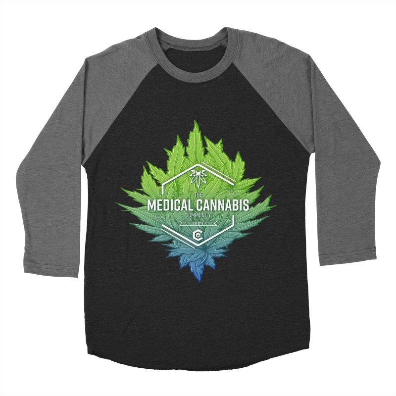 The Medical Cannabis Community Icon Men's Baseball Triblend Longsleeve T-Shirt by The Medical Cannabis Community