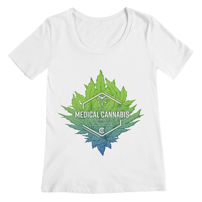 The Medical Cannabis Community Icon Women's Regular Scoop Neck by The Medical Cannabis Community