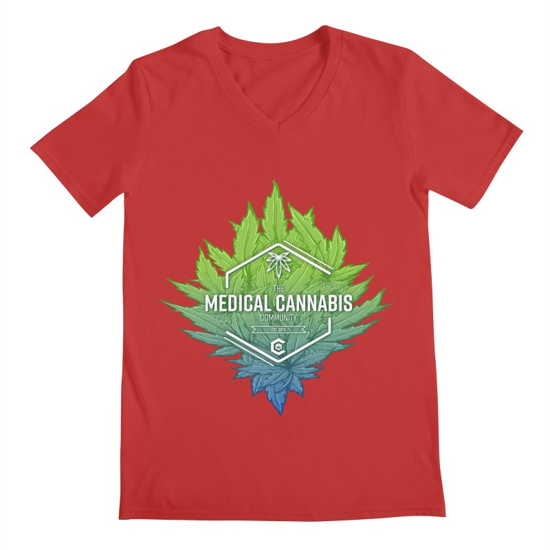 The Medical Cannabis Community Icon Men's Regular V-Neck by The Medical Cannabis Community