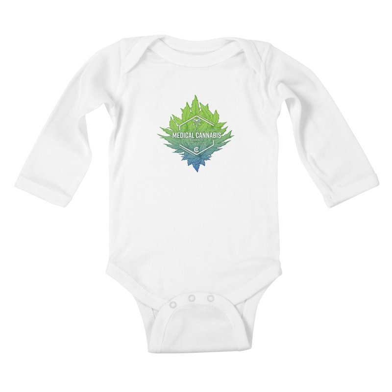 The Medical Cannabis Community Icon Kids Baby Longsleeve Bodysuit by The Medical Cannabis Community
