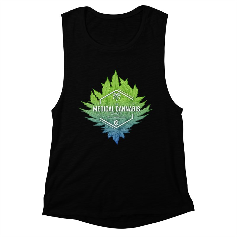 The Medical Cannabis Community Icon Women's Muscle Tank by The Medical Cannabis Community