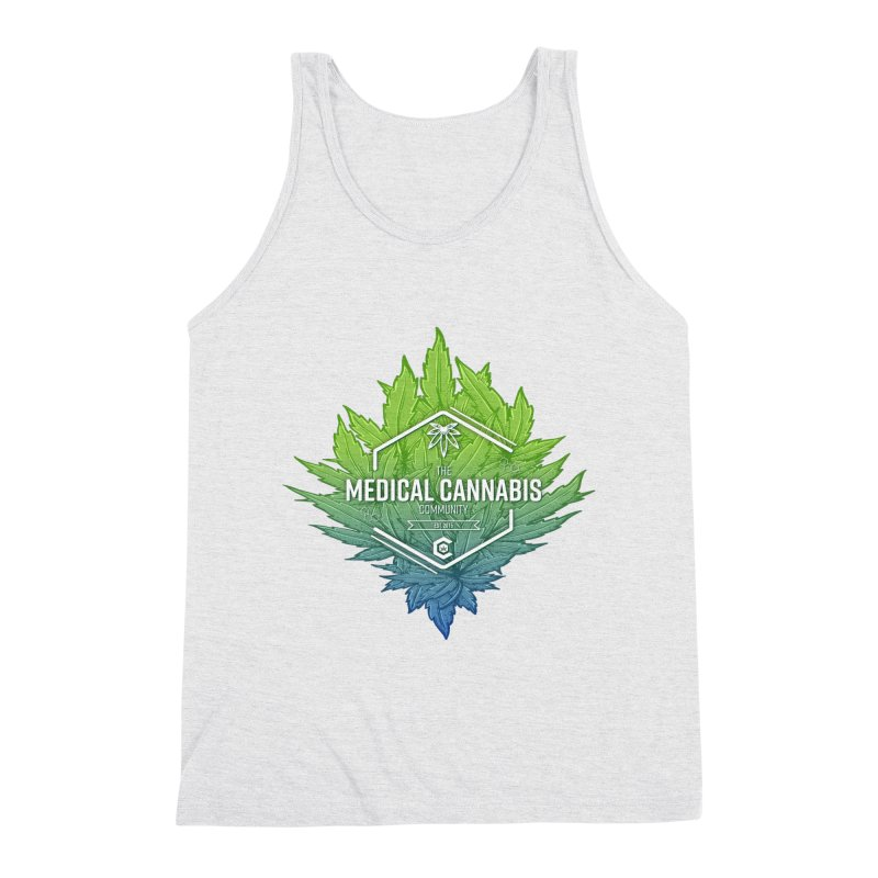 The Medical Cannabis Community Icon Men's Triblend Tank by The Medical Cannabis Community