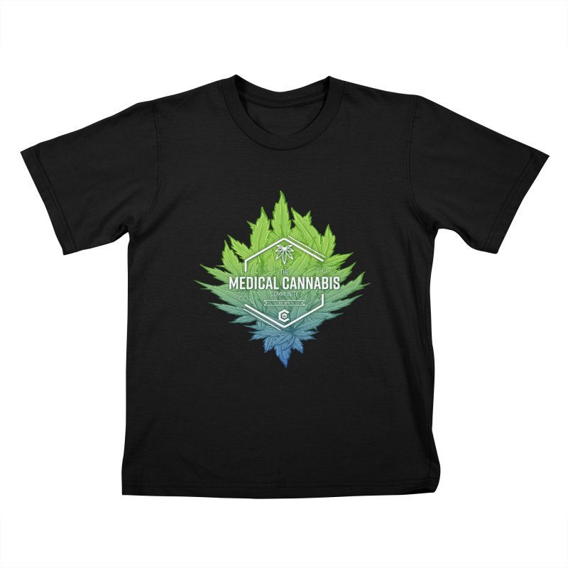 The Medical Cannabis Community Icon Kids T-Shirt by The Medical Cannabis Community