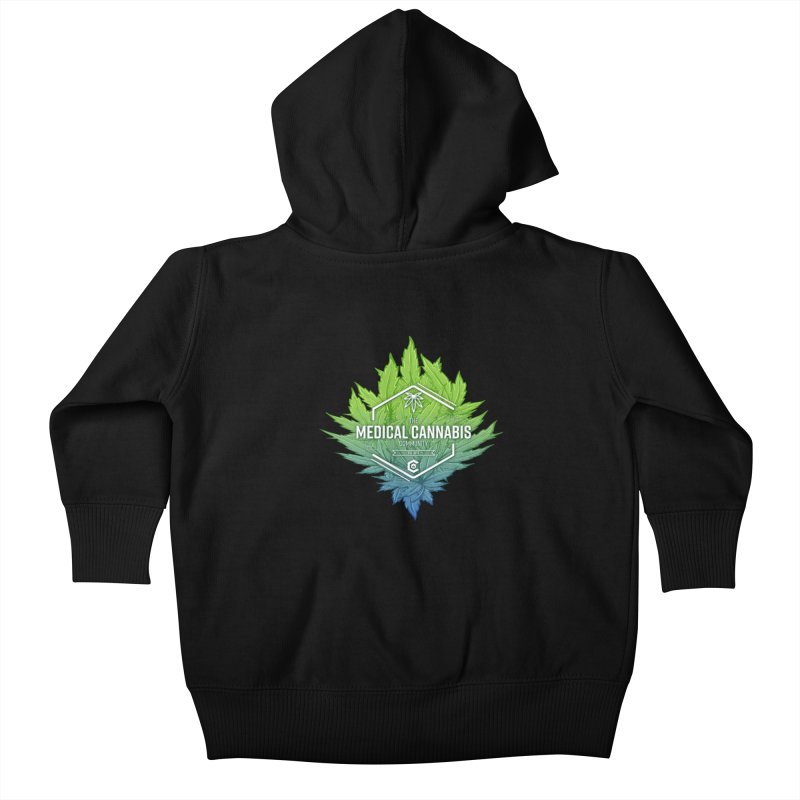 The Medical Cannabis Community Icon Kids Baby Zip-Up Hoody by The Medical Cannabis Community