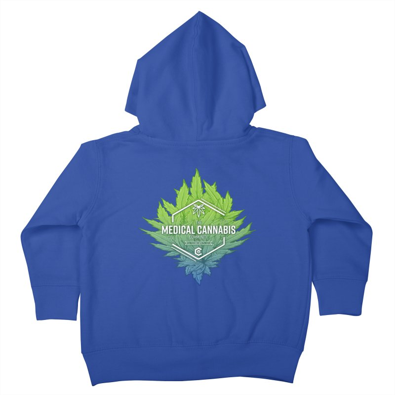 The Medical Cannabis Community Icon Kids Toddler Zip-Up Hoody by The Medical Cannabis Community