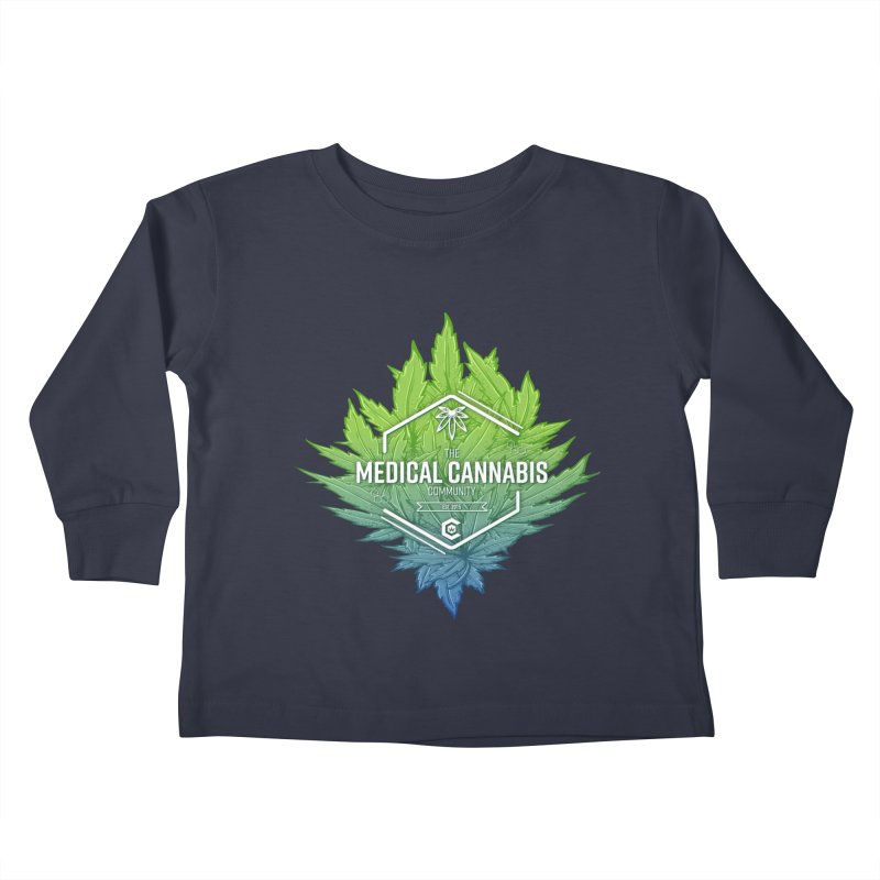 The Medical Cannabis Community Icon Kids Toddler Longsleeve T-Shirt by The Medical Cannabis Community