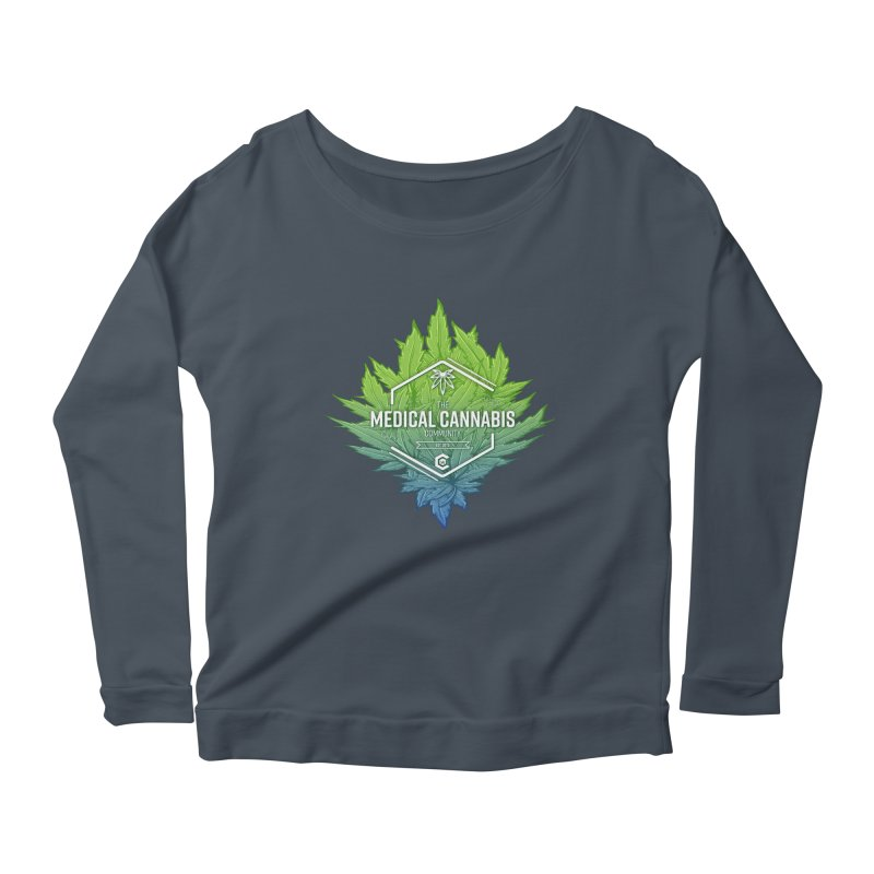 The Medical Cannabis Community Icon Women's Scoop Neck Longsleeve T-Shirt by The Medical Cannabis Community