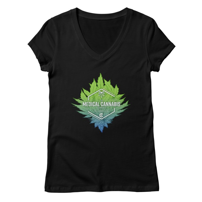 The Medical Cannabis Community Icon Women's V-Neck by The Medical Cannabis Community