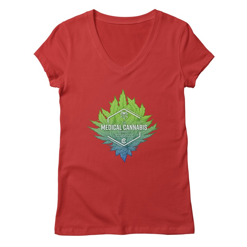 The Medical Cannabis Community Icon Women's Regular V-Neck by The Medical Cannabis Community